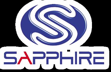 Sapphire logo white