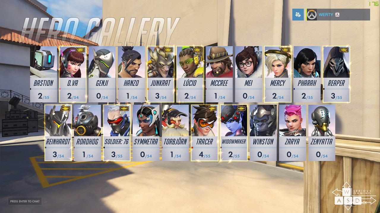Lista tuturor eroilor, cu icon