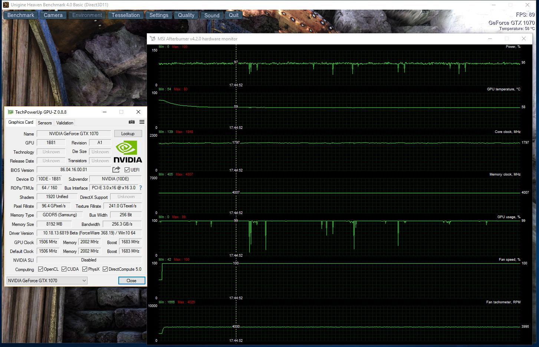 GTX 1070 Temperature 100% fan