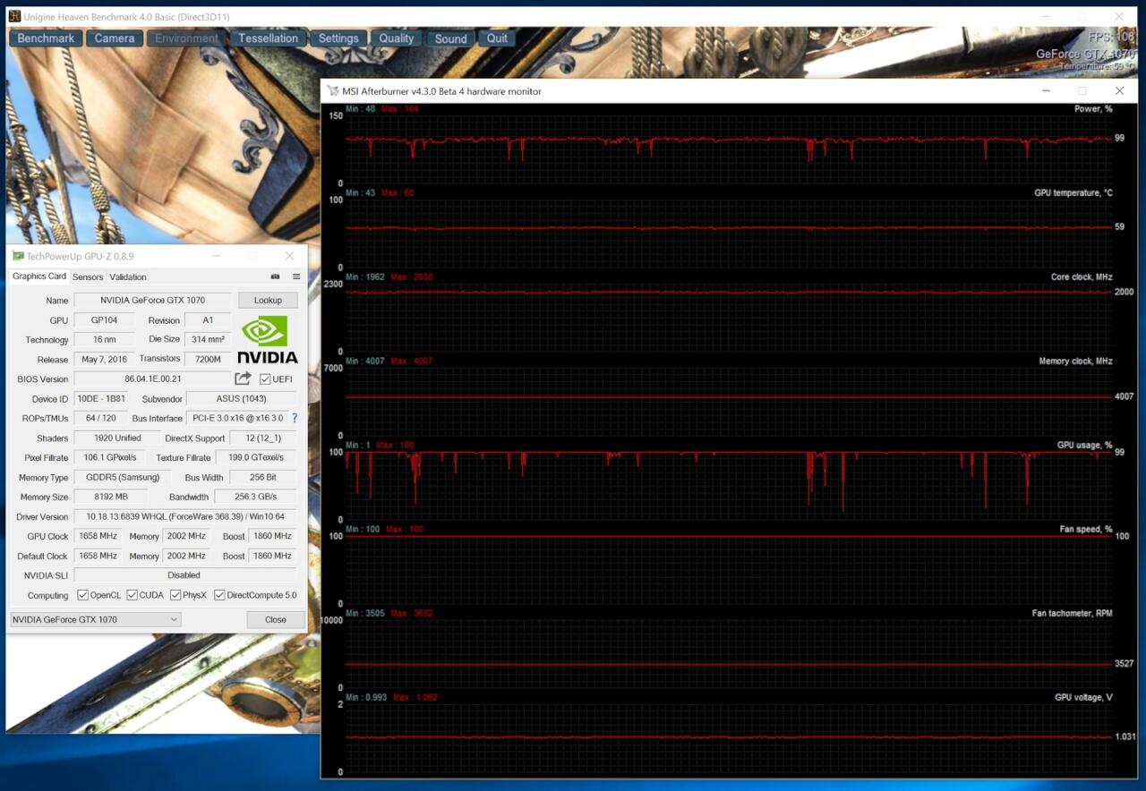 load default 1070 strix 100