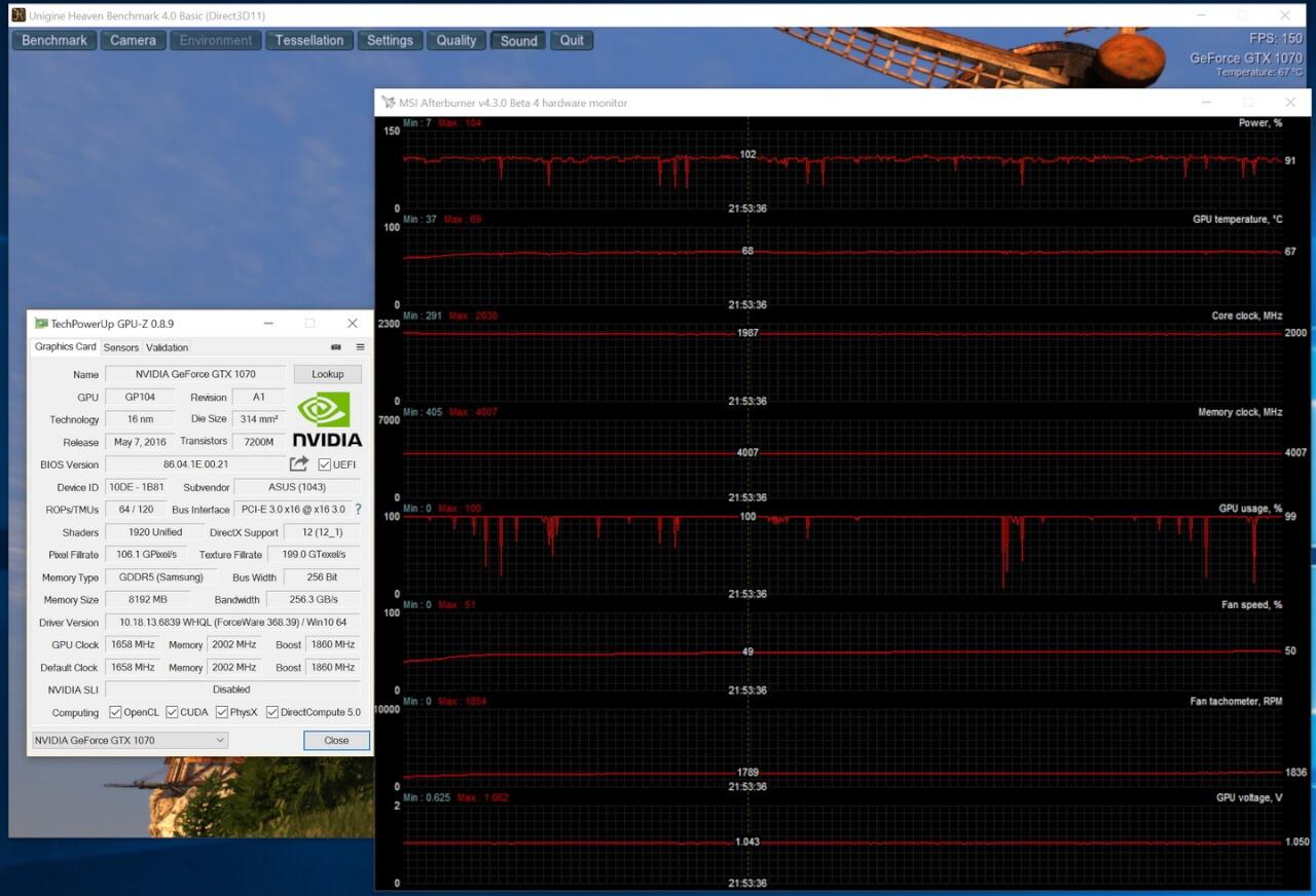 load default 1070 strix