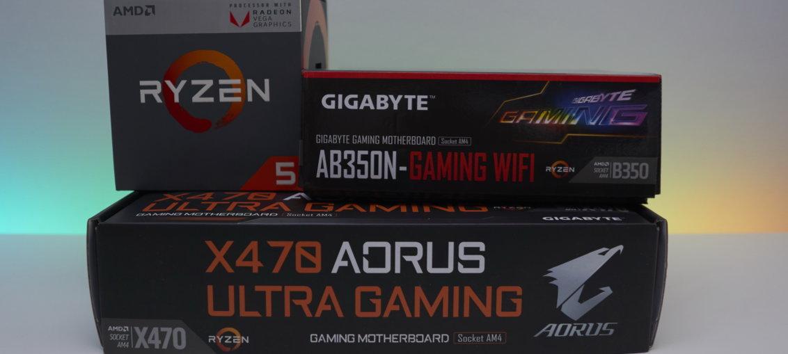 B350 sau X470 pentru Ryzen cu Vega integrat