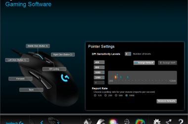 Logitech G403 wired gaming mouse (2/4)